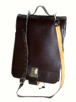 Czech Messenger Bag Satchel with Shoulder Strap part Leather Multiple Comnpartments